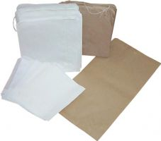 "7"" x 9"" White Strung Sulphite Bag - Pack 100"